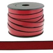 Flat Leather 10mm Red