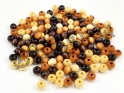 wooden beads mixed colors 8mm