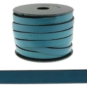 Flat Leather 10mm Blue